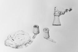 Les cheminées - dessin